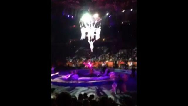 Spectator records shocking fall of acrobats during Ringling Bros. circus performance