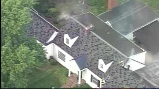 Raw video: Crews battling house fire in Indian Hills