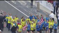 Boston Marathon runners finished race at Indianapolis 500