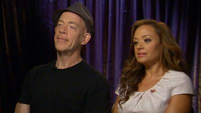 J.K. Simmons And Leah Remini Laugh It Up In 'Family Tools'