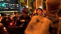 Protesters clash with police in Seattle during May Day melee