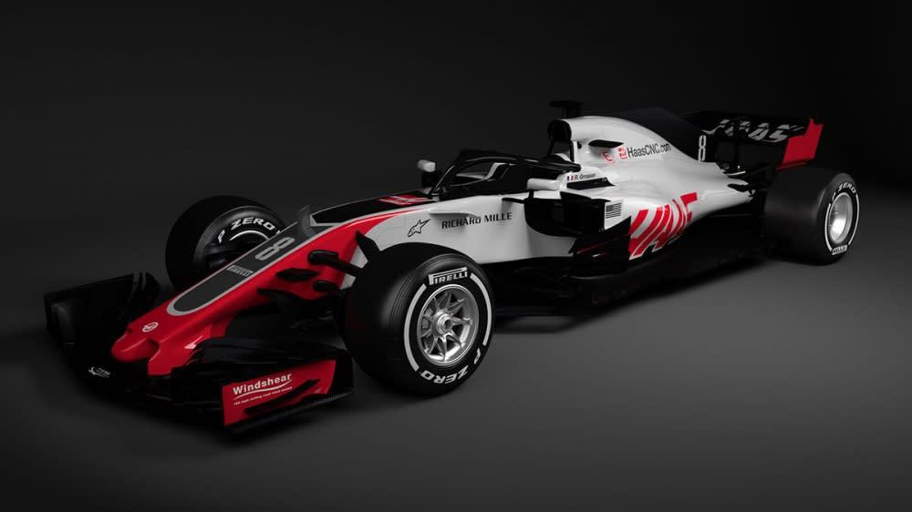 Haas車隊率先揭曉新車樣貌