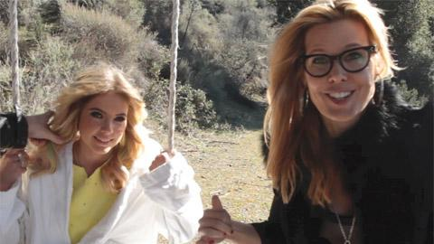 Behind-the-scenes of Ashley Benson's cover shoot with stylist Mary Alice Stephenson