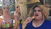 RuPaul's Drag Race Contestants Hand Out Free Ice Cream in NYC