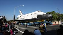 Space shuttle Endeavour's slow commute through Los Angeles