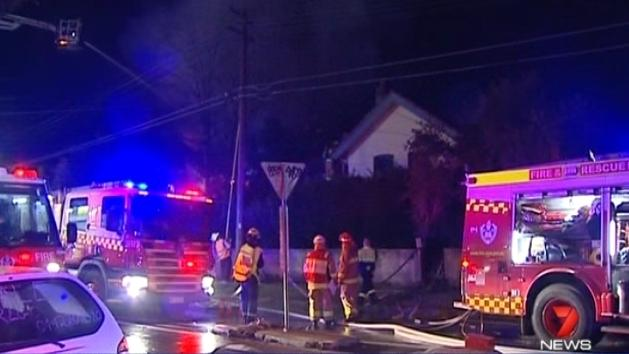 Hoarders' house engulfed in flames