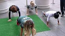 Fun football moves to keep you in shape