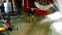 Shark tank shatters in Shanghai shopping mall - video