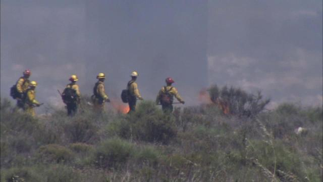 75-acre brush fire erupts in Lytle Creek area