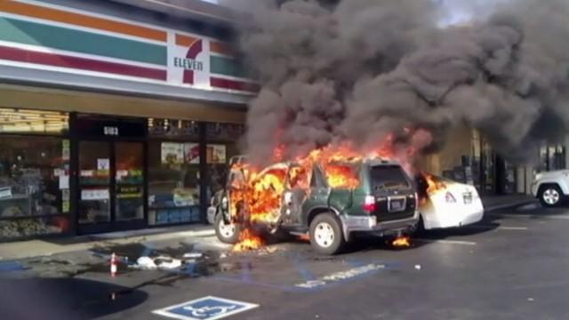 Man Set On Fire Inside Car After Refusing to Give Transient Money