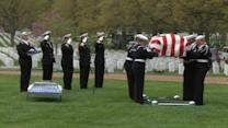 Heroic sailor laid to rest at Arlington