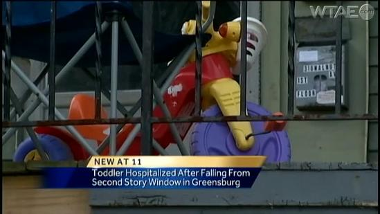 Child injured in fall from second-story window