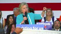 Clinton blasts Trump at California rally