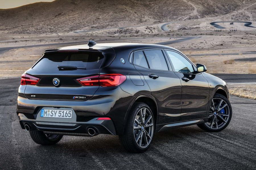 MW X2 M35i搭載BMW xDrive智慧型可變四輪傳動系統、搭配八速手自排變速箱,同時支援Launch Control彈射起步裝置,能協助駕駛達到最佳加速衝刺現。(圖片來源:https://www.autocar.co.uk/car-news/new-cars/new-bmw-x2-m35i-revealed-first-four-pot-m-cars)
