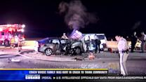Coach whose family was hurt in crash to thank community