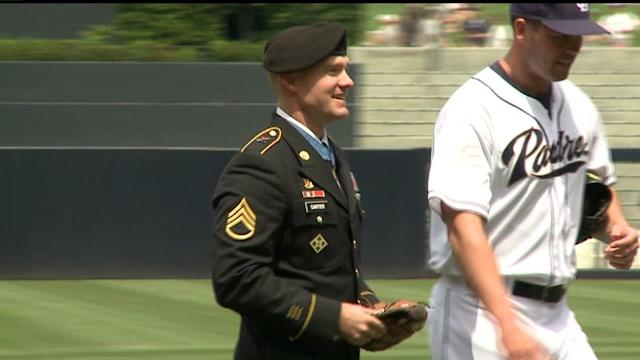 Medal Of Honor Recipient Throws 1st Pitch