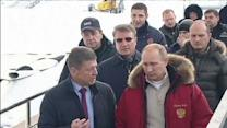 Raw: Putin Visits Sochi Olympics Sites