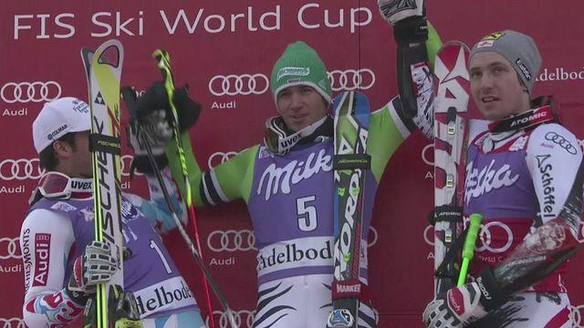 Felix Neureuther wins the FIS World Cup men's giant slalom in Adelboden