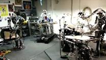 Robot Band Plays Heavy Metal!