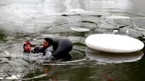Dramatic Rescue on Ice: Sledding Excursion Goes Wrong
