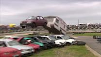 Car jumpers have a smashing time in English countryside