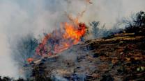 Fire calmer after threatening homes north of LA
