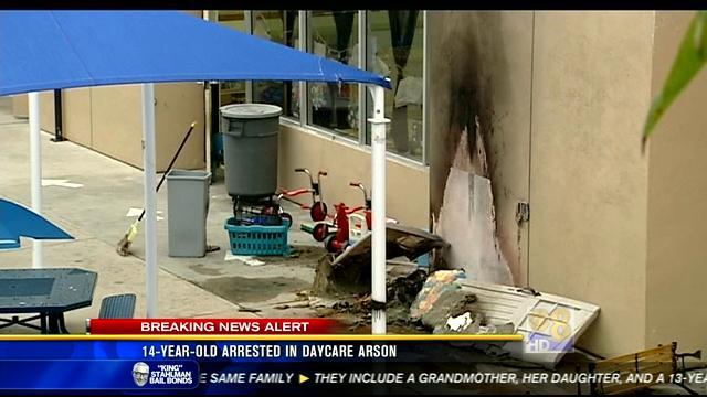 14-year-old arrested in day care arson