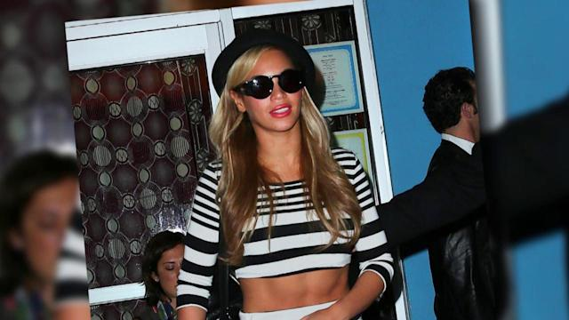 Beyoncé Ends Pregnancy Rumors as She Flaunts Toned Tummy at Kanye West's Birthday