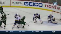 Parise flicks a shot over the glove of Allen