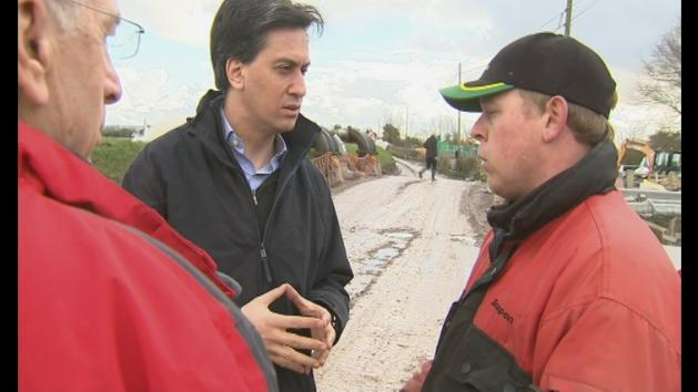 Miliband: Quicker insurance payouts to flood victims needed