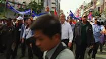 Thousands of opposition demonstrators gather in Phnom Penh