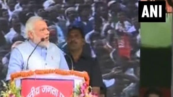 Prospect of being PM does not let Nitish Kumar sleep: Narendra Modi - part - 1