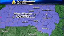 Winter Weather Advisory issued, schools delayed