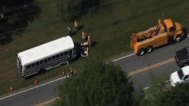 School bus accident in Franklinton