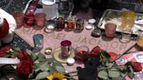 Fans adorn Michael Jackson's Hollywood star, five years on