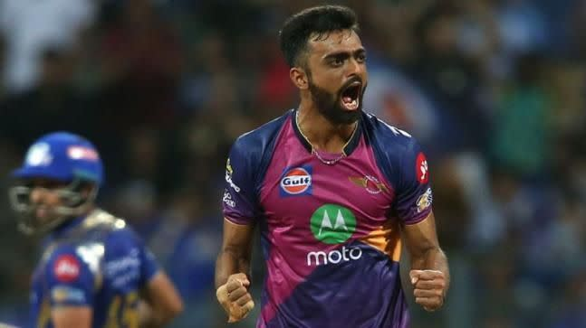 Unadkat roars after taking a wicket