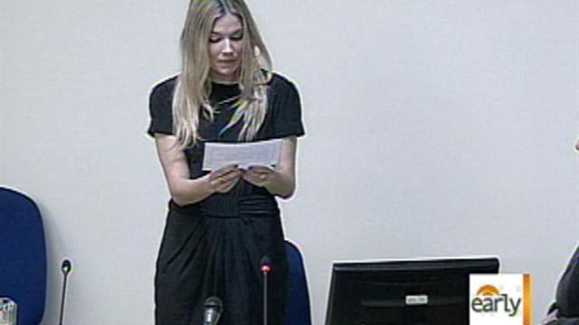 Sienna Miller testifies in phone hacking hearing
