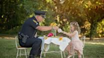 Officer Has 'Tea Party' With Toddler He Saved