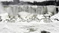 Niagara Falls frozen by arctic chill