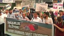 Turks protest against Europe's migrant policies
