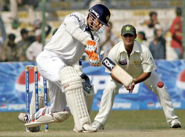 This picture might be from 12 years ago, but Pathan still seems to be as handy with the bat