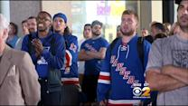 Rangers Fans Gather To Watch Game 7
