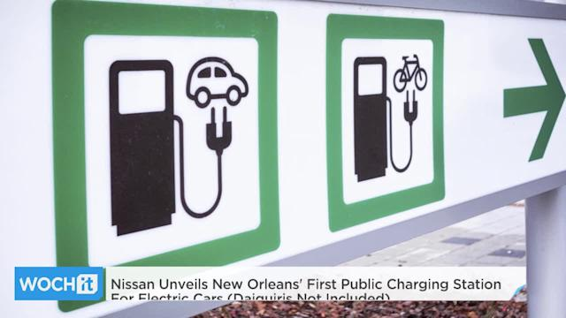 Nissan Unveils New Orleans' First Public Charging Station For Electric Cars (Daiquiris Not Included)