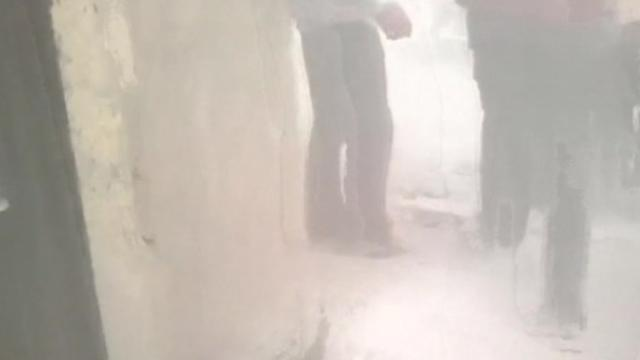 Video captures air raids, clashes near Syrian chemical weapons site