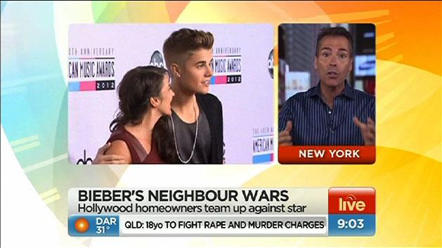 Bieber's neighbours stage revolt