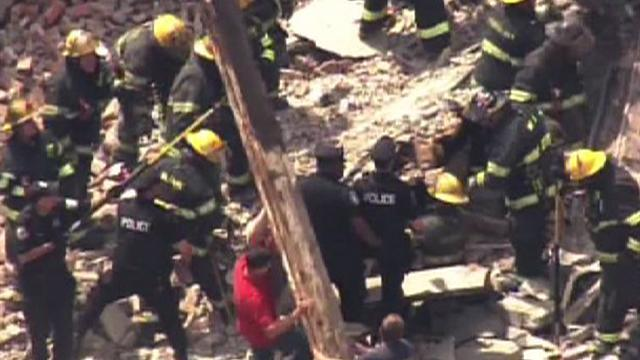 At least 1 dead and 13 injured in Philly building collapse