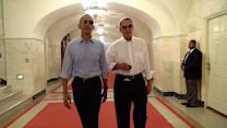 Obama embraces retirement in spoof video