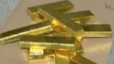 Raw: Police Find Millions in Gold Hidden in Car
