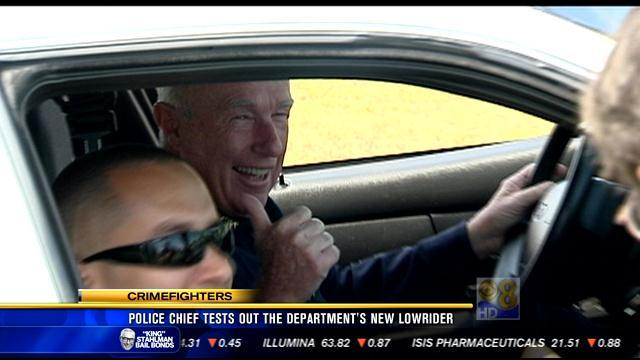 Police chief tests out the department's new lowrider
