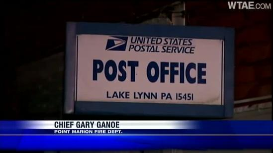Post office damaged during Springhill Township fire